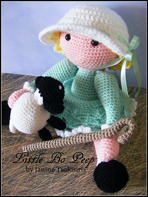 Little Bo Peep - Crochet Pattern by #NeensCrochetCorner | Featured at Neen's Crochet Corner - Sponsor Spotlight Round Up via @beckastreasures | #fallintochristmas2016 #crochetcontest #spotlight #crochet #roundup