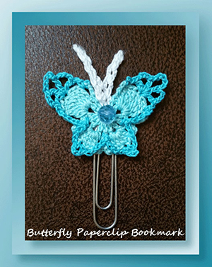 Butterfly Paperclip Bookmark - Free Crochet Pattern by @crochetmemories Featured at Crochet Memories - Sponsor Spotlight Round Up via @beckastreasures | #fallintochristmas2016 #crochetcontest #spotlight #crochet #roundup