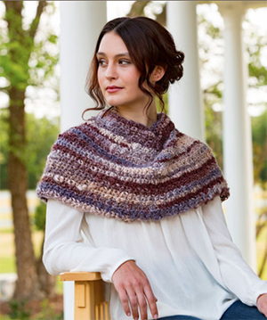 Spiced Up Shoulder Cozy - Free Crochet Pattern by Julie Farmer | Featured at Red Heart - Sponsor Spotlight Round Up via @beckastreasures with @redheartyarns| #fallintochristmas2016 #crochetcontest #spotlight #crochet #roundup