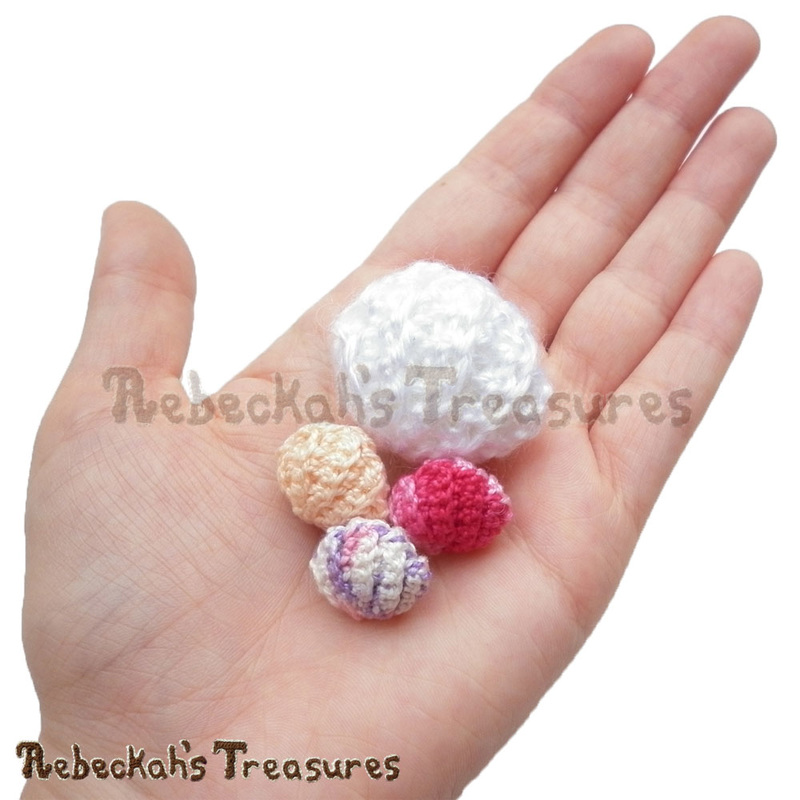 Clam Pearl Shell in the Palm of my Hand | FREE crochet pattern by @beckastreasures | Are collecting seashells a favourite pastime? Crochet this delightful Clam Pearl Shell! Visit www.rebeckahstreasures.com #seashell #crochet #pearlshell #clamshell #shell #oystershell