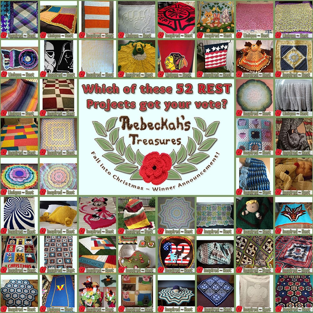 Who WON your votes in the REST category? Find out who via @beckastreasures | Fall into Christmas Crochet Contest 2016 (October 30th - December 21st)