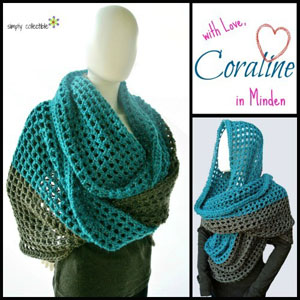 Coraline in Minden Cowl Wrap | Featured on @beckastreasures Saturday Link Party 57 with @SCCelinaLane!
