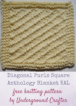 Diagonal Purls Square Anthology Blanket KAL | Featured at Saturday Link Party #60 via @beckastreasures with @ucrafter | Join the latest parties here: https://goo.gl/uUHihU #crochet