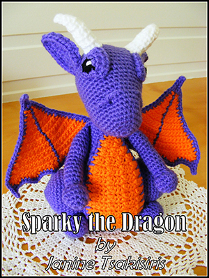 Sparky the Dragon - Crochet Pattern by #NeensCrochetCorner | Featured at Neen's Crochet Corner - Sponsor Spotlight Round Up via @beckastreasures | #fallintochristmas2016 #crochetcontest #spotlight #crochet #roundup