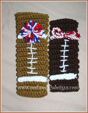Football Headband / Ear Warmer | Featured on @beckastreasures Saturday Link Party 59 with @PoshPoochDesign!