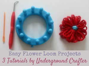 Easy Flower Loom Projects | Featured on @beckastreasures Saturday Link Party 53 with @UCrafter!