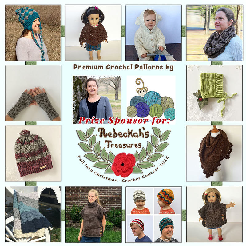 Premium Crochet Patterns by @LtMonkeyShop to BUY or #WIN! | Featured at Little Monkeys Design - Sponsor Spotlight Round Up via @beckastreasures | #fallintochristmas2016 #crochetcontest #spotlight #crochet #roundup