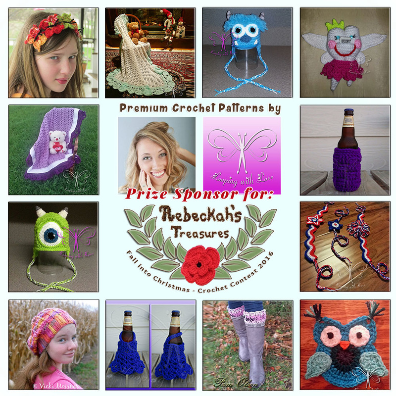 Premium Crochet Patterns by @LoopingWithLove to BUY or #WIN! | Featured at Looping with Love - Sponsor Spotlight Round Up via @beckastreasures | #fallintochristmas2016 #crochetcontest #spotlight #crochet #roundup