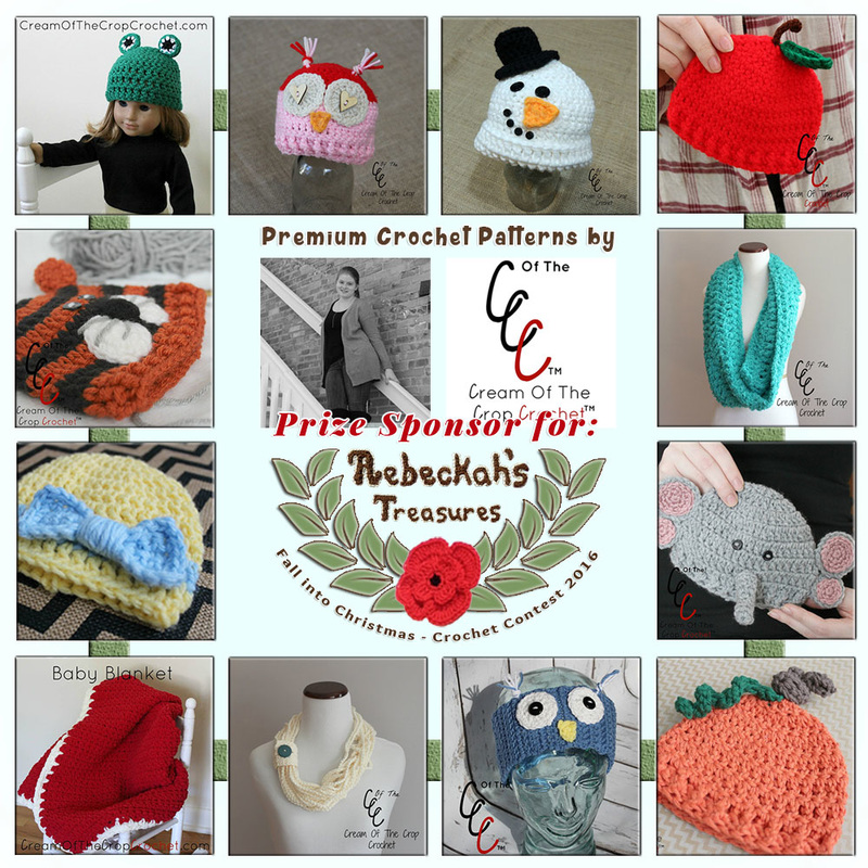 Premium Crochet Patterns by @COTCCrochet to BUY or #WIN! | Featured at Cream of the Crop Crochet - Sponsor Spotlight Round Up via @beckastreasures | #fallintochristmas2016 #crochetcontest #spotlight #crochet #roundup