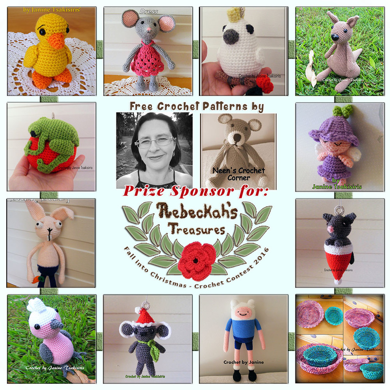 #Free Crochet Patterns by #NeensCrochetCorner to enjoy now! | Featured at Neen's Crochet Corner - Sponsor Spotlight Round Up via @beckastreasures | #fallintochristmas2016 #crochetcontest #spotlight #crochet #roundup