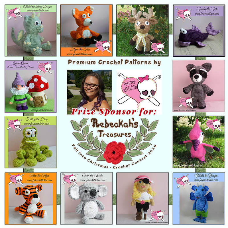 Premium Crochet Patterns by @foreverstitchin to BUY or #WIN! | Featured at Forever Stitchin - Sponsor Spotlight Round Up via @beckastreasures | #fallintochristmas2016 #crochetcontest #spotlight #crochet #roundup