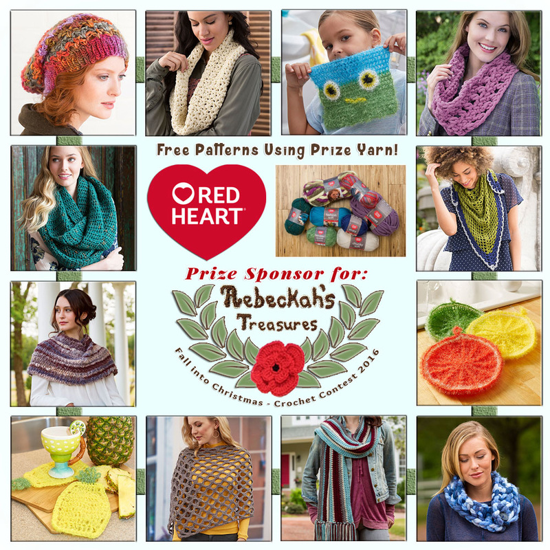 #Free Crochet Patterns by @redheartyarns to enjoy now! | Featured at Red Heart - Sponsor Spotlight Round Up via @beckastreasures | #fallintochristmas2016 #crochetcontest #spotlight #crochet #roundup