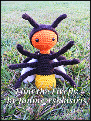 Flint the Firefly - Crochet Pattern by #NeensCrochetCorner | Featured at Neen's Crochet Corner - Sponsor Spotlight Round Up via @beckastreasures | #fallintochristmas2016 #crochetcontest #spotlight #crochet #roundup