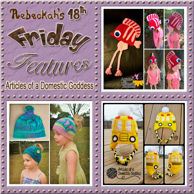 Meet Donna Knox from Articles Of A Domestic Goddess! | Friday Feature #18 via @beckastreasures with  @ArtofaDG | See 3 #crochet pattern features we all love and get to know her more! | See the latest designer features here: https://goo.gl/UIvoYx OR SIGN UP to get featured at Rebeckah's Treasures here: https://goo.gl/xjDP52