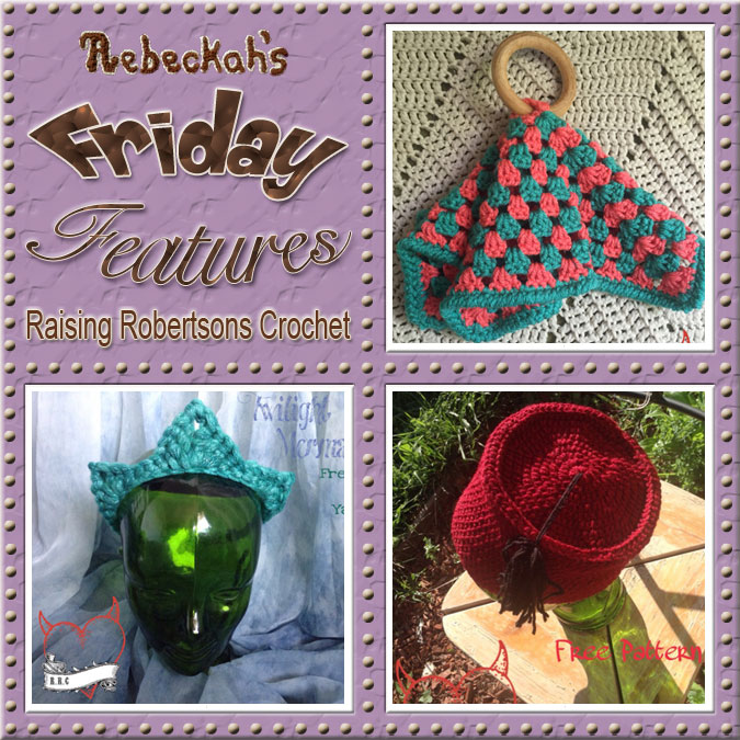 Amanda Robertson - Raising Robertsons Crochet | Friday Feature #1 via @beckastreasures with @keep_on_farting | Come see 3 pattern features + get to know a little about her! #crochet #designer