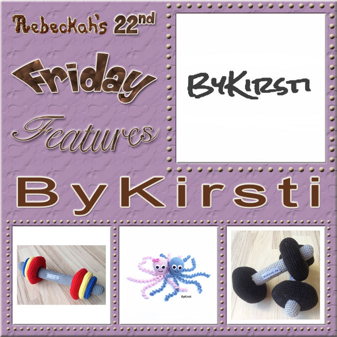 Meet ByKirsti! | Friday Feature #22 via @beckastreasures with  #ByKirsti | See 3 #crochet + #knit pattern features we all love and get to know her more! | See the latest designer features here: https://goo.gl/UIvoYx OR SIGN UP to get featured at Rebeckah's Treasures here: https://goo.gl/xjDP52