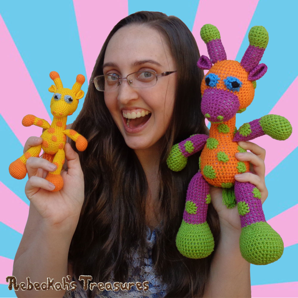 ME having so much fun with Otis & April Giraffe! | #Otis #Giraffe - #Amigurumi Crochet-A-Long by @beckastreasures | #OtisGiraffeCAL Part 6: HEAD & FINISHING TOUCHES - Watch the #Video #Tutorial AND #Download the crochet pattern for this part of the #CAL in #English #Dansk #Nederlands #Deutsche #עִברִית #Español & #Svenska! | #crochet #pattern #April #YouTube