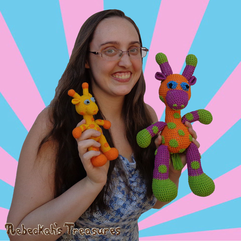 Radiant ME hanging with Otis & April giraffes! | #Otis #Giraffe - #Amigurumi Crochet-A-Long by @beckastreasures | #OtisGiraffeCAL Part 3: LIMBS (arms, legs, tail) - Watch 3 #Video #Tutorials AND #Download the crochet pattern for this part of the #CAL in #English #Dansk #Nederlands #Deutsche #עִברִית #Español & #Svenska! | #crochet #pattern #April #YouTube