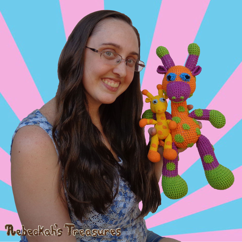 Otis, April & ME Together Again! | #Otis #Giraffe - #Amigurumi Crochet-A-Long by @beckastreasures | #OtisGiraffeCAL Part 5: FACIAL FEATURES (muzzle, ears, eyes, horns) - Watch 4 #Video #Tutorials AND #Download the crochet pattern for this part of the #CAL in #English #Dansk #Nederlands #Deutsche #עִברִית #Español & #Svenska! | #crochet #pattern #April #YouTube
