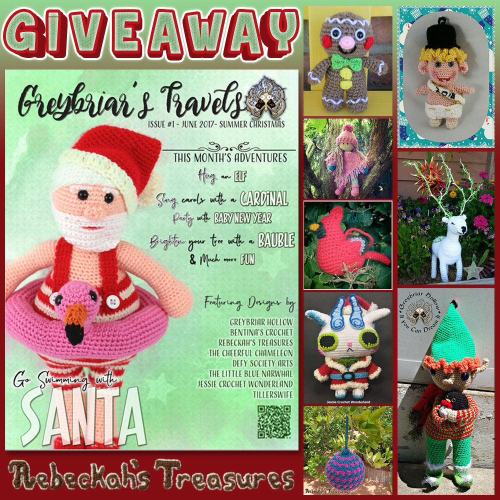 #GIVEAWAY via @beckastreasures - Summer Christmas Issue by #GreybriarsTravels + 2 bonus' too!