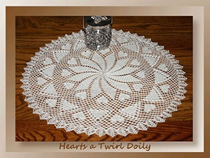 Hearts a Twirl Doily by @crochetmemories | via Be Mine Décor - A LOVE Round Up by @beckastreasures | #crochet #pattern #hearts #kisses #valentines #love