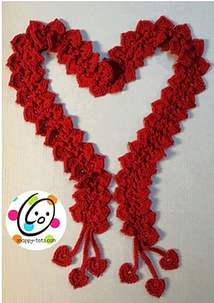 Hearts of Love Sweater by @SnappyTots | via I Heart Clothes - A LOVE Round Up by @beckastreasures | #crochet #pattern #hearts #kisses #valentines #love