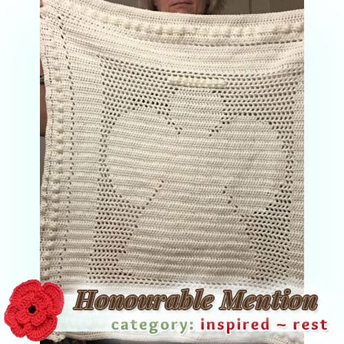 Angel Baby Blanket | REST Category - Honourable Mention (more than 100 votes) at @beckastreasures | Fall into Christmas Crochet Contest 2016 (October 30th - December 21st)