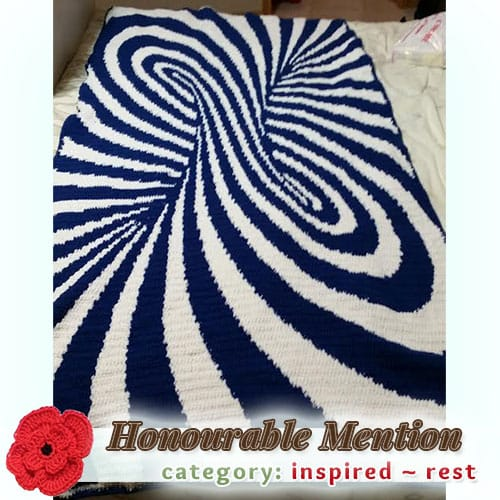 Optical Illusion | REST Category - Honourable Mention (more than 100 votes) at @beckastreasures | Fall into Christmas Crochet Contest 2016 (October 30th - December 21st)