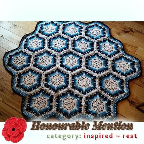 Winter Blizzard | REST Category - Honourable Mention (more than 100 votes) at @beckastreasures | Fall into Christmas Crochet Contest 2016 (October 30th - December 21st)