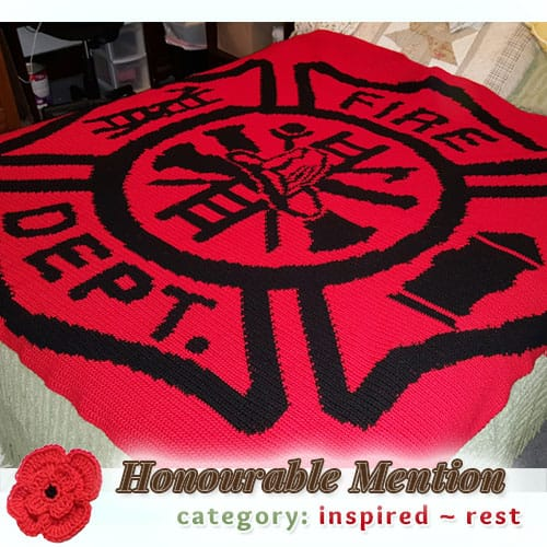 Maltese Cross Afghan | REST Category - Honourable Mention (more than 100 votes) at @beckastreasures | Fall into Christmas Crochet Contest 2016 (October 30th - December 21st)