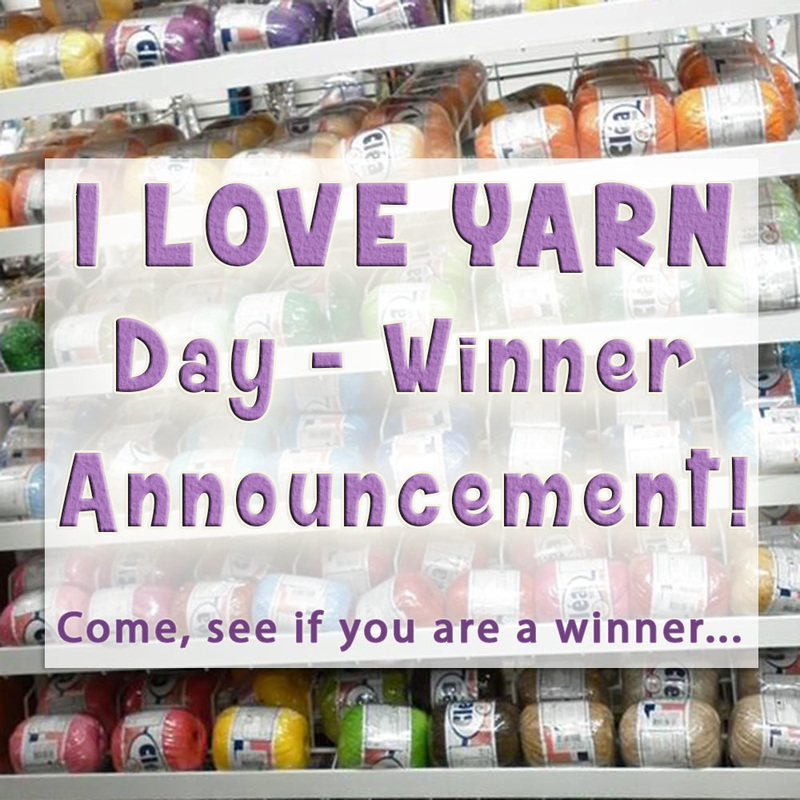 I Love Yarn Day - Winner Announcement via @beckastreasrues | Come see if you are a prize winner, plus get 75% off your next order by Sunday, October 23rd, 2016!