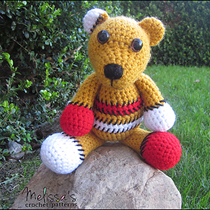 Benny the Patchwork Bear | Featured at Tuesday Treasures #18 via @beckastreasures with @melissaspattrns | #crochet