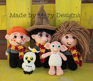 Mini Wizard Friends - Crochet Pattern by #MadebyMary | Featured at Made by Mary - Sponsor Spotlight Round Up via @beckastreasures | #fallintochristmas2016 #crochetcontest #spotlight #crochet #roundup