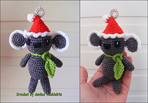 Christmas Critter Koala - Free Crochet Pattern by #NeensCrochetCorner | Featured at Neen's Crochet Corner - Sponsor Spotlight Round Up via @beckastreasures | #fallintochristmas2016 #crochetcontest #spotlight #crochet #roundup