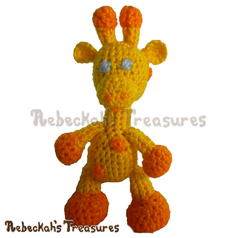 Little Bigfoot Giraffe in Thread | Working on a Crochet Giraffe via @beckastreasures