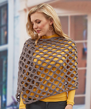 Simone's Open Wave Shawl - Free Crochet Pattern by Shari White| Featured at Red Heart - Sponsor Spotlight Round Up via @beckastreasures with @redheartyarns| #fallintochristmas2016 #crochetcontest #spotlight #crochet #roundup