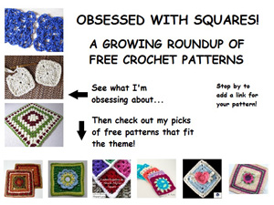 Crochet Pattern Round Up Squares | Featured on @beckastreasures Saturday Link Party 53 with Crochet is the Way!