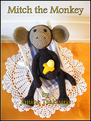 Mitch the Monkey - Crochet Pattern by #NeensCrochetCorner | Featured at Neen's Crochet Corner - Sponsor Spotlight Round Up via @beckastreasures | #fallintochristmas2016 #crochetcontest #spotlight #crochet #roundup