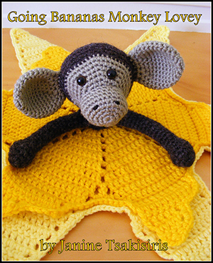 Going Bananas Monkey Lovey - Crochet Pattern by #NeensCrochetCorner | Featured at Neen's Crochet Corner - Sponsor Spotlight Round Up via @beckastreasures | #fallintochristmas2016 #crochetcontest #spotlight #crochet #roundup