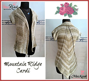 Mountain Ridge Cardi | Featured at Tuesday Treasures #18 via @beckastreasures with @MazKwok | #crochet