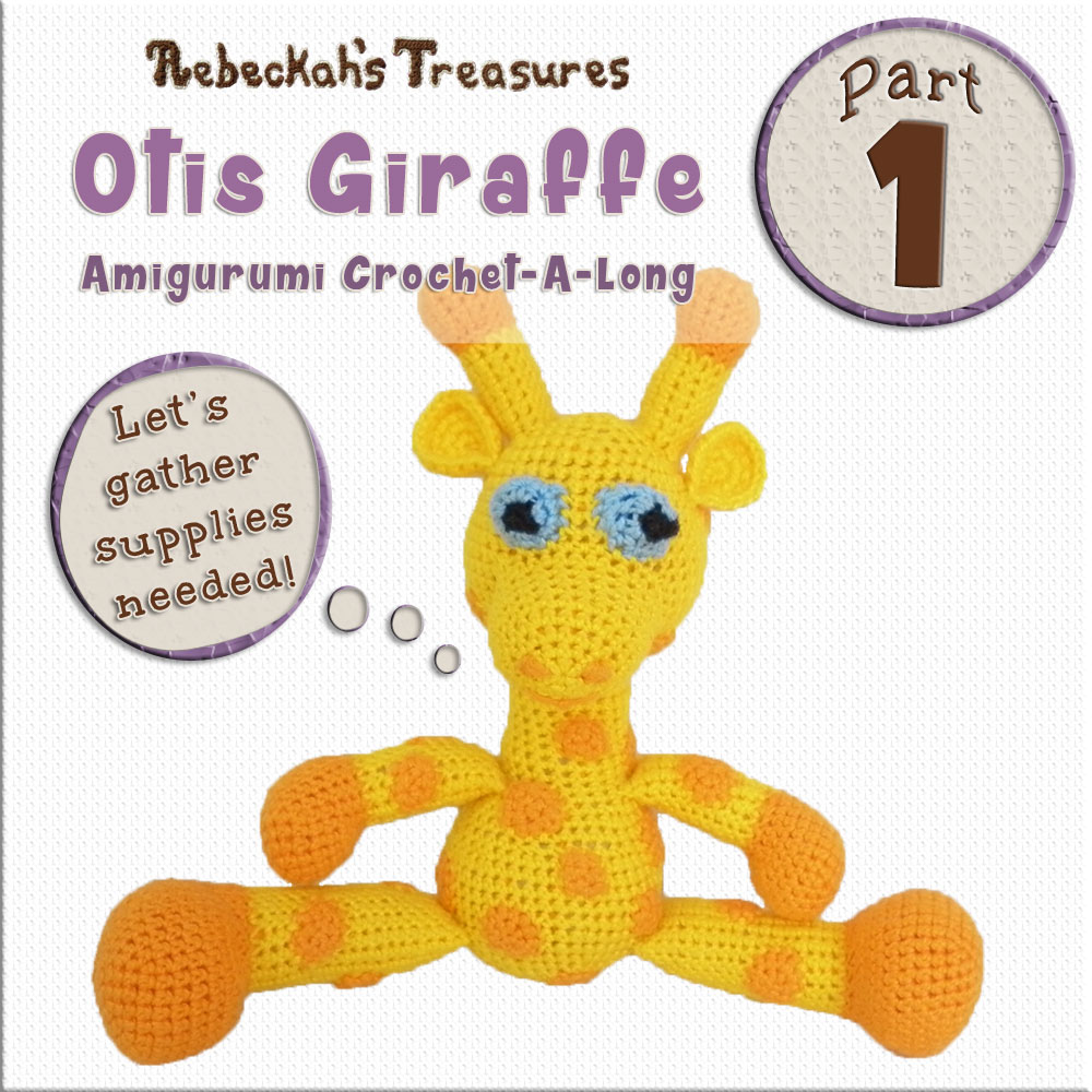 #Otis #Giraffe - #Amigurumi Crochet-A-Long by @beckastreasures | Part 1: Introduction to #OtisGiraffeCAL - Watch the Intro #Video AND #Download the handy crochet pattern guide for the #CAL in #English #Dansk #Nederlands #Deutsche #עִברִית #Español & #Svenska! | #crochet #pattern #April #YouTube