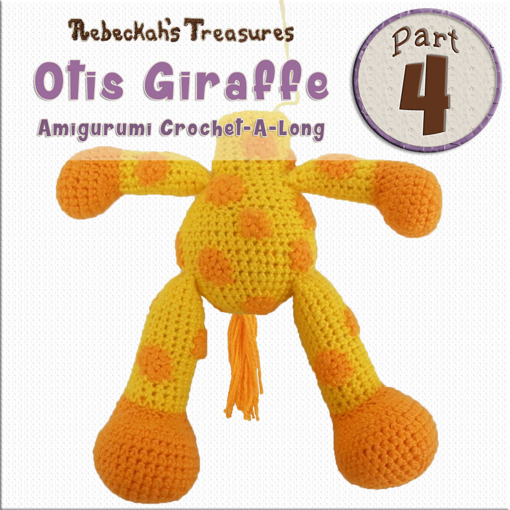 #Otis #Giraffe - #Amigurumi Crochet-A-Long by @beckastreasures | #OtisGiraffeCAL Part 4: BODY - Watch the #Video #Tutorial AND #Download the crochet pattern for this part of the #CAL in #English #Dansk #Nederlands #Deutsche #עִברִית #Español & #Svenska! | #crochet #pattern #April #YouTube