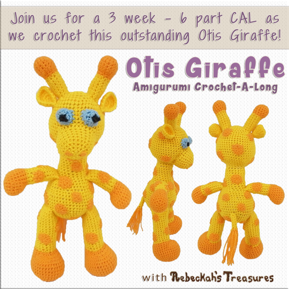 Otis Giraffe Amigurumi CAL with @beckastreasures! Starts April 3, 2017. 6 parts over the course of 3 weeks... #crochet #pattern #giraffe #CAL #amigurumi