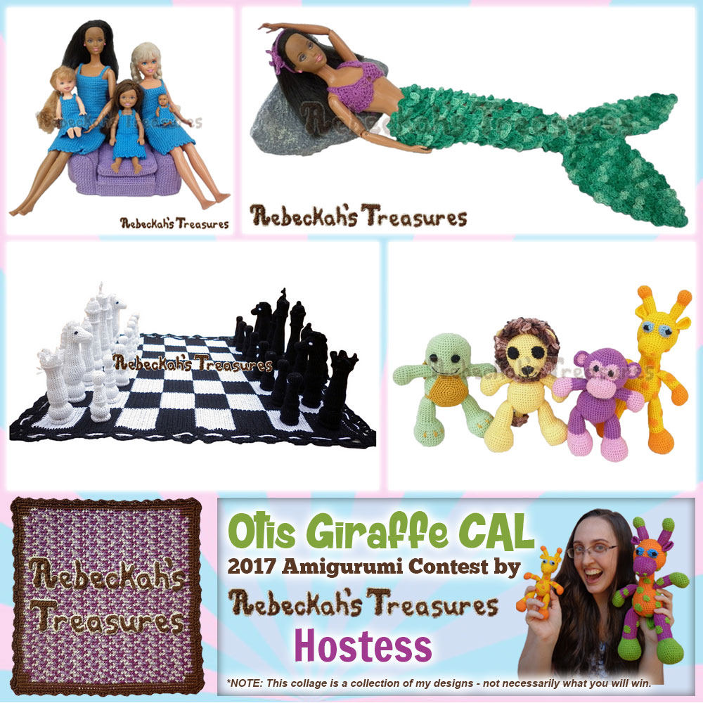 Rebeckah's Treasures | Hostess + Prize Sponsor in the #OtisGiraffeCAL #Contest by @beckastreasures | #CAL in #English #Dansk #Nederlands #Deutsche #עִברִית #Español & #Svenska | Crochet your giraffe today and enter the contest for a chance to win prizes from 13 businesses! | Submissions through to the end of the day EST on May 31st, 2017 | #otis #giraffe #amigurumi #crochet #pattern #contest #April #May #June #YouTube