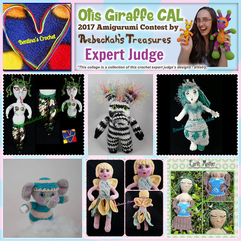 Bentina's Crochet | Expert Judge in the #OtisGiraffeCAL #Contest by @beckastreasures with #BentinasCrochet | Meet the Judges here: https://goo.gl/tNGHN2 | Public voting from June 12-26, 2017 | #FREE #CAL available in #English #Dansk #Nederlands #Deutsche #עִברִית #Español & #Svenska - See it here: https://goo.gl/9Fvu2Z | #otis #giraffe #amigurumi #crochet #pattern #contest #April #May #June #YouTube