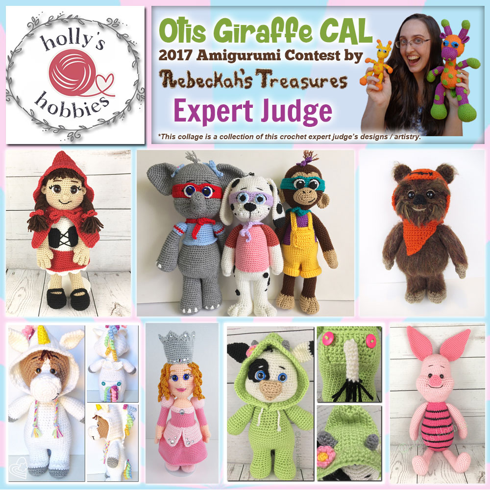 Holly's Hobbies | Expert Judge in the #OtisGiraffeCAL #Contest by @beckastreasures with @Hollys_Hobbies | Meet the Judges here: https://goo.gl/tNGHN2 | Public voting from June 12-26, 2017 | #FREE #CAL available in #English #Dansk #Nederlands #Deutsche #עִברִית #Español & #Svenska - See it here: https://goo.gl/9Fvu2Z | #otis #giraffe #amigurumi #crochet #pattern #contest #April #May #June #YouTube