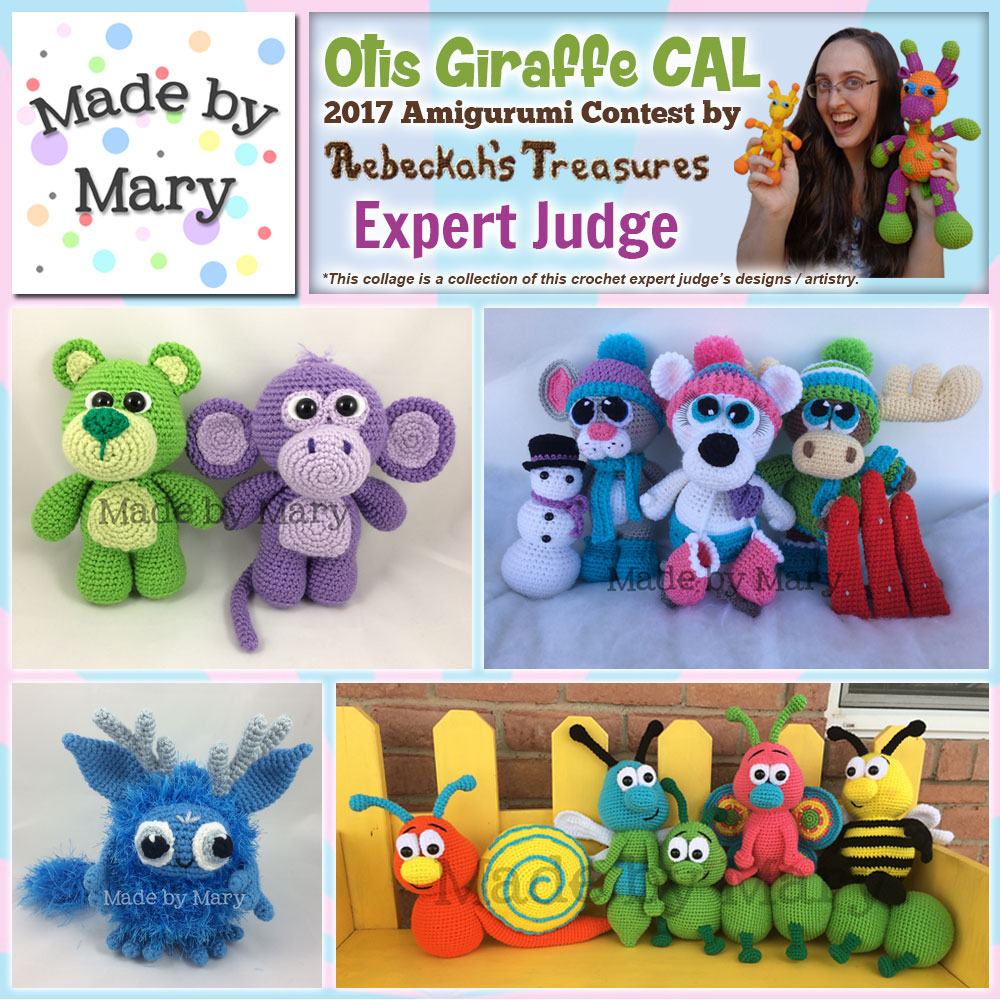 Made by Mary | Expert Judge in the #OtisGiraffeCAL #Contest by @beckastreasures with #MadeByMary | Meet the Judges here: https://goo.gl/tNGHN2 | Public voting from June 12-26, 2017 | #FREE #CAL available in #English #Dansk #Nederlands #Deutsche #עִברִית #Español & #Svenska - See it here: https://goo.gl/9Fvu2Z | #otis #giraffe #amigurumi #crochet #pattern #contest #April #May #June #YouTube