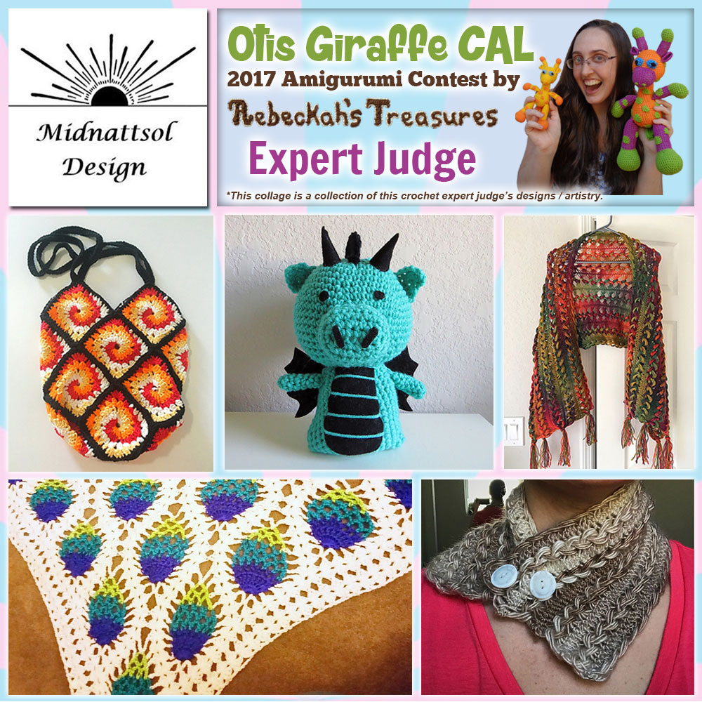 Midnattsol Design | Expert Judge in the #OtisGiraffeCAL #Contest by @beckastreasures with #MidnattsolDesign | Meet the Judges here: https://goo.gl/tNGHN2 | Public voting from June 12-26, 2017 | #FREE #CAL available in #English #Dansk #Nederlands #Deutsche #עִברִית #Español & #Svenska - See it here: https://goo.gl/9Fvu2Z | #otis #giraffe #amigurumi #crochet #pattern #contest #April #May #June #YouTube