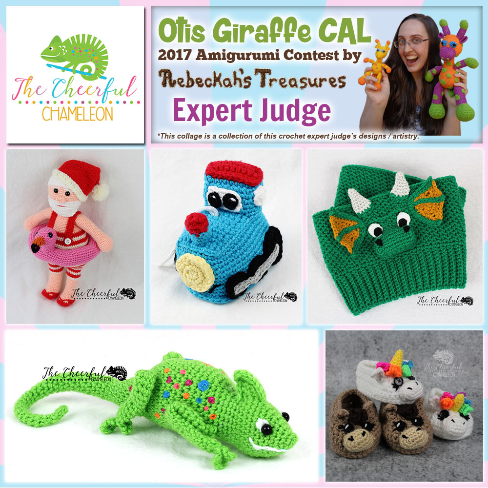 The Cheerful Chameleon | Expert Judge in the #OtisGiraffeCAL #Contest by @beckastreasures with @Cheerychameleon | Meet the Judges here: https://goo.gl/tNGHN2 | Public voting from June 12-26, 2017 | #FREE #CAL available in #English #Dansk #Nederlands #Deutsche #עִברִית #Español & #Svenska - See it here: https://goo.gl/9Fvu2Z | #otis #giraffe #amigurumi #crochet #pattern #contest #April #May #June #YouTube