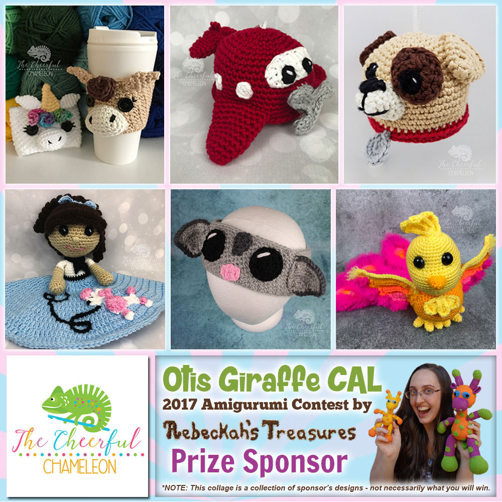 The Cheerful Chameleon | Prize Sponsor in the #OtisGiraffeCAL #Contest by @beckastreasures with @Cheerychameleon | #CAL in #English #Dansk #Nederlands #Deutsche #עִברִית #Español & #Svenska | Crochet your giraffe today and enter the contest for a chance to win prizes from 13 businesses! | Submissions through to the end of the day EST on May 31st, 2017 | #otis #giraffe #amigurumi #crochet #pattern #contest #April #May #June #YouTube